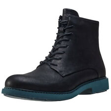 Camper Neuman Mil X Womens Black Leather Casual Boots Lace-up Genuine Shoes
