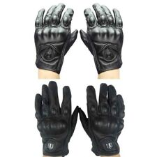 Sport Leather Motorcycle Riding Ventilation Driving Gloves Protective Armor Mens