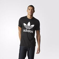 Adidas Originals Mens Trefoil Tee Camouflage Top T-Shirt Black Camo Red BK5861