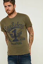Threadbare Mens Crew Neck Tee Short Sleeves and Graphic Print from Cotton