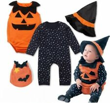 Halloween Party Baby 3PCS Hat+Rompers Infant Costume Pumpkin Boys Girls Costume