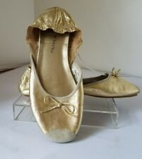 Penny Loves Kenny COPA STYLE Women US SIZE 7M Pick Black or Gold Ballerina Flats
