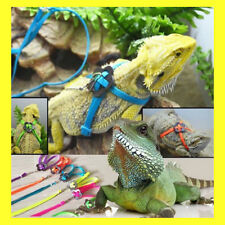 Reptile Lizard Gecko Bearded Dragon Harness and Leash Adjustable Set Light Soft