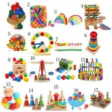 Kid Developmental Intellectual Building Blocks/Montessori Wooden Toy Xmas Gift