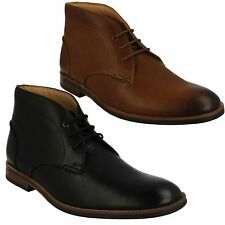 MENS CLARKS LEATHER DESERT ANKLE BOOTS SMART LACE UP FORMAL SHOES BROYD MID