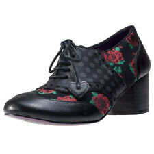 Poetic Licence by Irregular Choice Clara Bow Roses Womens Black Walking Shoes
