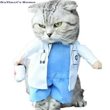 NACOCO Dog Cat Doctor Costume Pet Clothing Halloween Jeans Outfit Apparel