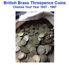 GB British Brass Threepence Coins 3d - Choose Your Year 1937 - 1967 Three Pence