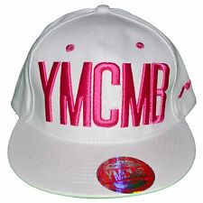 YMCMB - SNAPBACK CAP - ADJUSTABLE SIZE - PINK WHITE NEW