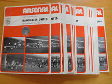 Arsenal Home Programmes 1973/74