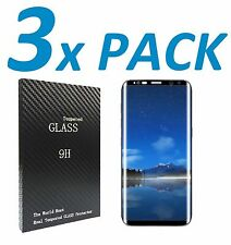 3x 3D Curved Tempered Glass Screen Protector For Samsung Galaxy S7 S8 EDGE PLUS