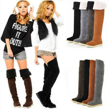 Womens Thigh High Boots Over The Knee Suede Long Winter Autumn Boots Shoes Warm