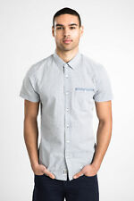 Threadbare Mens Short Sleeves Shirt with Buttoned Front and Chest Pocket