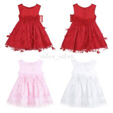 Baby Girl Princess Dress Flower Wedding Pageant Birthday Party Dress 3-24 Months