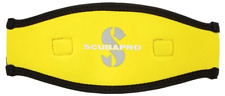 ScubaPro Neoprene Mask Strap 2 5MM Black Yellow Cover Free Day Shipping