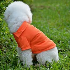 Puppy Kitty Small Pet Cotton Polo Shirt Clothes Costume Apparel