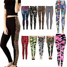 Ladies Full Length Printed Legging Womens Jeggings Stretchy Pants Skinny 8-26
