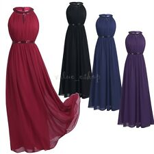Women Chiffon Formal Long Dress Evening Party Prom Gown Wedding Bridesmaid Maxi