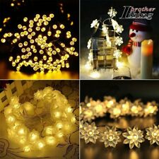 Solar String Fairy Lights 20/30/50LED Warm White Party Christmas Garden Outdoor