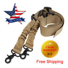 For M4 Tactical Adjustable Two 2 Point Gun Sling Bungee Dual Hunting Rifle Strap