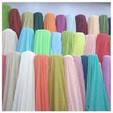"""35 Yards Chiffon Fabric 60"""" Wide Roll Sheer Draping 40 Color Wedding Party Decor"""