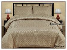 280TC Jacquard Weave Hugo Latte * KING QUEEN DOUBLE QUILT DOONA DUVET COVER SET