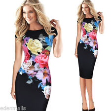 Fashion Women Dress Flower Print Ruched Cap Sleeve Ruffle Party casual Dress