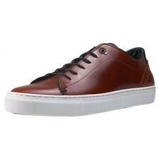 Ted Baker Duuke Brogue Details Mens Tan Leather Casual Trainers Lace-up