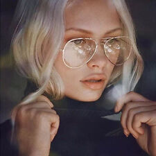 Unisex Big Round Metal Frame Clear lens Vintage Retro Geek Fashion Glasses