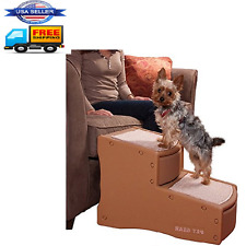 Portable Dog Ramp Pet Easy Steps II Cat Stairs 2 Step Up To 150 Pounds Cocoa