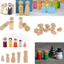 Creative DIY Wooden People Peg Dolls Wedding Cake Toppers Crafts