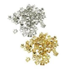 100Pc DIY Punk Pyramid Studs Nailheads Rivets For Clothes Shoes Bags Decoration