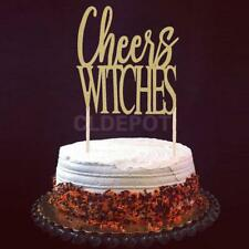 20pcs Glitter Halloween Cheers Witches Cake Toppers Party Decoration