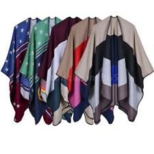 HOT Sale Womens Scarf Autumn Knitted Pashmina Poncho Capes Shawl Cardigans N2N6