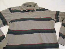 MENS RALPH LAUREN POLO LONG SLEEVE STRIPED 2 BUTTON SHIRT MEDIUM PREOWNED .99
