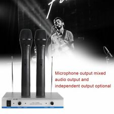 Wireless Microphone System Dual Handheld 2 x Mic Receiver Professional NSW AU