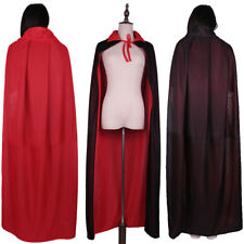 Medieval Reversible Collar Cloak Wicca Robe Wizard Witch Cape Halloween Apparel
