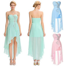 Woman High Low Homecoming Prom Formal Evening Party Cocktail Dress Wedding Gown