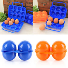 Portable Folding Plastic Carry 2/6/12 Eggs Containers Holder Storage Box Case