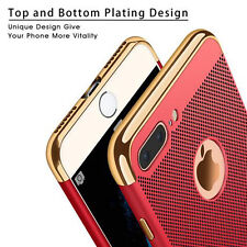 For iPhone 7 6 Luxury Hollow Radiating Hybrid Hard PC Plating Shockproof  Case