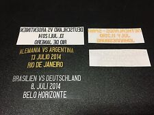 Match Detail World Cup Final 2010, 2014 for Spain Germany Argentina Jersey