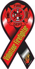 """4""""-10"""" VOLUNTEER FIREFIGHTER Support our Fire Rescue Maltese Car Ribbon Magnet"""