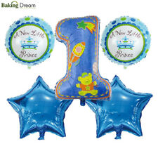 5Pcs 1st Happy Birthday Balloons First Baby Boy Girl Party Decoration Supplies