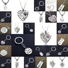 Pendants Paws Print Necklace Pet Dog Charms Chain Jewelry Keyring Love Heart New