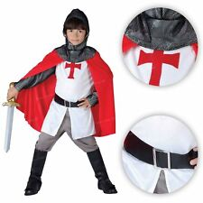Knight Crusader Fancy Costume Medieval Lord Book George English Arthur Boys Kids