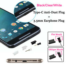 Silicone Anti-Dust Plug Set Type-C USB+3.5mm Earphone Port Protect For Samsung