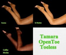 Sexy Tamara Toeless Open Toe Pantyhose Hooters Uniform Halloween costume tights
