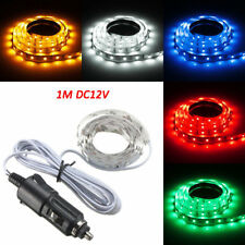 1M LED Flexible Strip Light 60 SMD 3528 Cigarette Charger Cars Trucks Dashboards