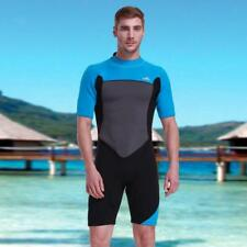 Premium Shorty Wetsuit Mens 2mm Spring Wet Suit Dive Surf Surfing Short Sleeve