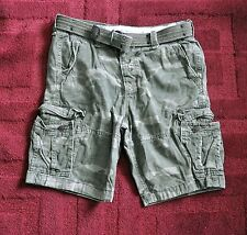 NWT Men Abercrombie & Fitch Shorts Cargo Belted Camo Vintage Rugged Belt Classic